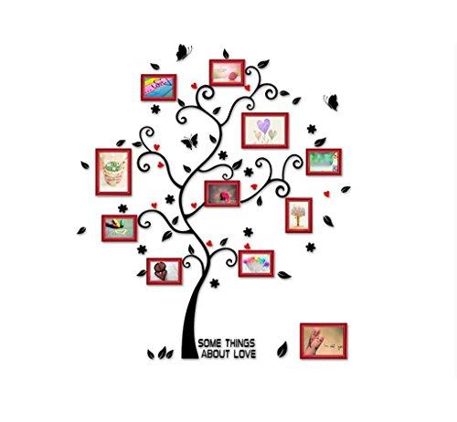 ASL Massivholz-Foto-Wand-Wohnzimmer-Foto-Wand Einfache moderne kreative klassische Schlafzimmer-Unternehmens-Foto-Wand-Kombination Foto-Wand-runde Rand-Linien-Wand-Aufkleber Qualität ( Farbe : B )
