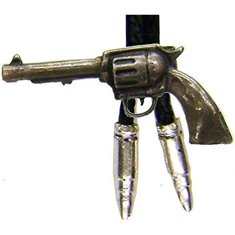 Modestone Men's Bolo Colt Revolver & Silver Bullets O/S Silver