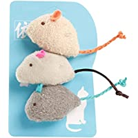 Pet Believe Cat Mouse Toy Stuffed 3PCS Novelty Biteproof Pet Catnip Toy Kitten Interactive Toy Chewing Biting Hunting…