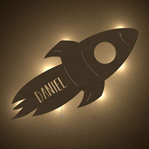 Rakete Nachtlicht für Kinderzimmer-Lampe/Tauf - Geschenk oder zur Geburt, Personalisiert mit Wunsch-Name für Mädchen oder Jungen Schlummerleuchte Babyzimmer - WunschName, Stilleuchte, Schlummerleuchte, Rudi, Rakete, nachtlicht babyzimmer, Nachtlicht, Mädchen, KinderzimmerLampeTaufGeschenk, Jungen, GeburtPersonalisiert, Energieklasse, Babyzimmer
