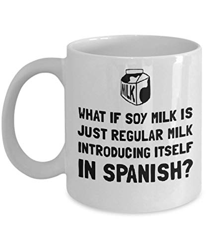 Milk Is Just Regular Milk Coffee Mug, Funny, Cup, Tea, Gift For Christmas, Father's day, Xmas, Dad, Anniversary, Mother's day, Pa ()