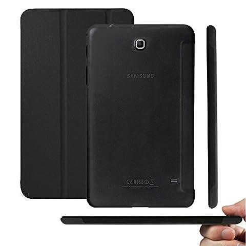 KHOMO® Dual Noir Galaxy Tab4 7.0 Etui Housse Coque Ultra Mince avec Fermeture Magnétique pour le Nouvel Samsung Galaxy Tab 4 - 7.0