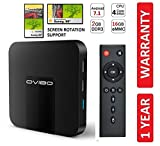 OVIBO® Android 7.1 Smart TV Box 4K Media Player 2GB Ram with Screen
