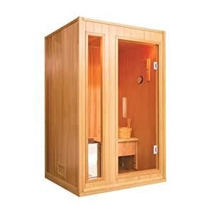 traditionelle finnische sauna zen fuer 2 personen amazon. Black Bedroom Furniture Sets. Home Design Ideas