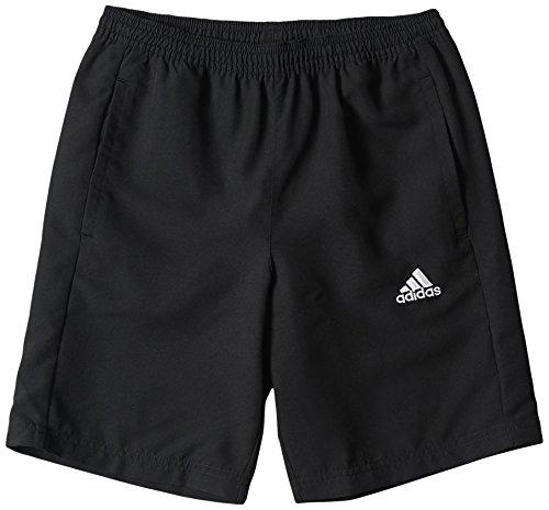 adidas Jungen Shorts Woven Y, schwarz/weiß, 152, M35337 (Shorts Sportliche Jungen)