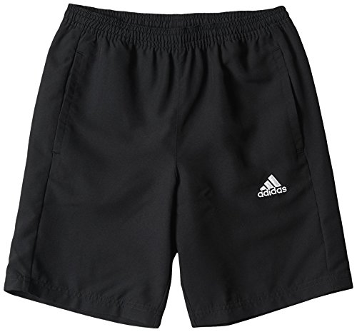 adidas Jungen Shorts Woven Y, schwarz/weiß, 152, M35337 (Core Fußball Jungen Shirt)