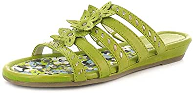New Ladies/Womens Lime Leather Hush Puppies Wedged Sandals - Lime Leather - UK SIZE 11