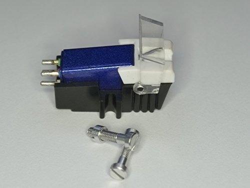 Hs 8000 Serie (blau Tonabnehmer und Diamant Nadel mit der richtigen Montage Schrauben für CEC 8002, 8001, 8003, Disko 4000, HS510, hs610, HS910, St 540, ST130, ST530, Plattenspieler Abnehmer, Nadel)