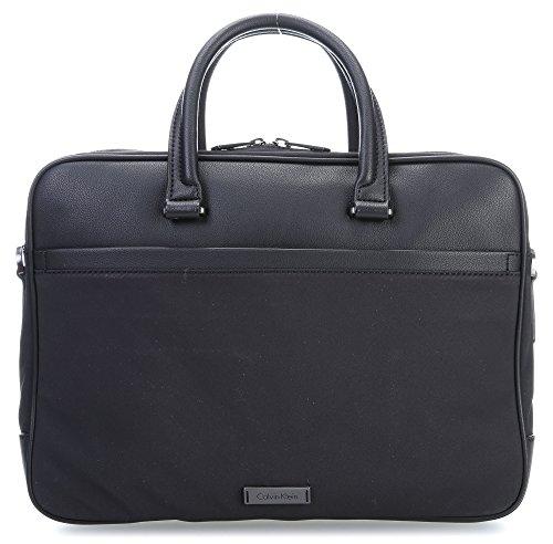 Calvin Klein Adam Nylon 14'' Maletín con compartimento para portátil negro