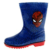 Marvel Boys Spiderman Wellington Boots Rain Wellies