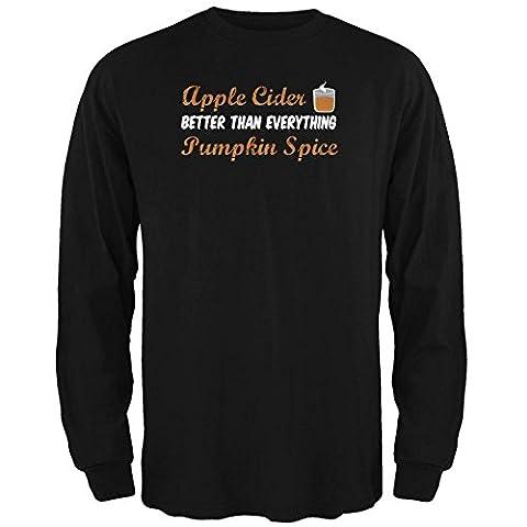 Herbst-Apfel-Cider ist besser als alles Pumpkin Spice Mens lange Ärmel T Shirt schwarz X-LG