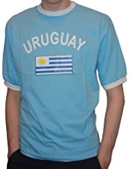 BRUBAKER Herren oder Damen Uruguay Fan T-Shirt Blau Gr. S - XXXL