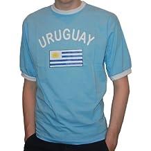 Brubaker Hombre o Mujer Uruguay Fan Camiseta de color azul, tallas S – XXXL,