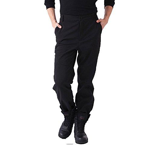emansmoer Homme Imperméable Coupe-Vent Softshell Doublée Polaire Pantalon Outdoor Sport d'escalade Camping Randonnée Pants