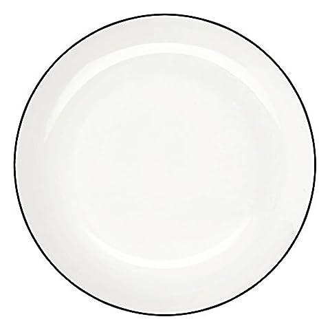 ASA 1906113 LIGNE Dessertteller - Kuchenteller , ligne noire -