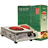 ORBON 2000 Watt Big Steel With ON-OFF Indicator G Coil Stove Hot Plate Induction Cooktop/Induction Cookers/Electric Cooking Heater/Induction Radient Cooktop ( MADE IN INDIA )( HUGE DIWALI DISCOUNT & FREE SHIPPING )