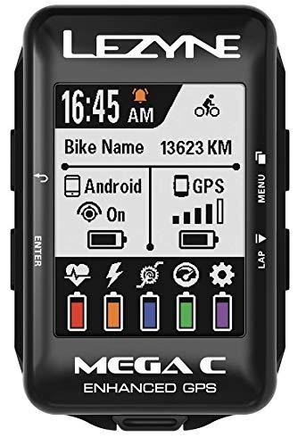 Lezyne Mega C Bicicleta Negro rastreador GPS - Rastreadores