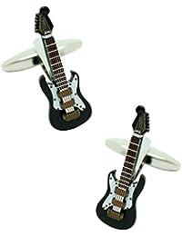 MasGemelos - Gemelos Guitarra Eléctrica Negra 3D Cufflinks