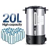 Hehilark 20 liter Glühweinkocher Glühweinkessel Heißwasserspender Heißgetränkeautomat 1500 watt mit Zapfhahn aus Edelstahl