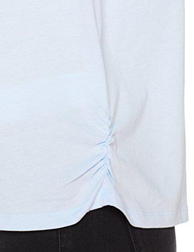 Cortefiel Damen T-Shirt Camiseta Estampada blau (Gama blaues 11)