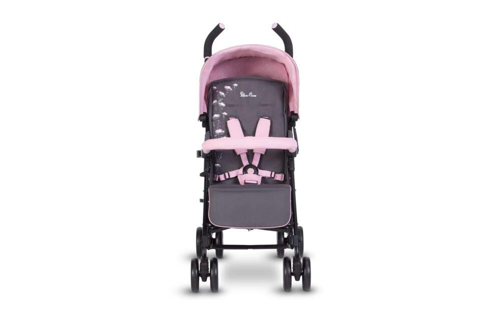 Silver Cross Pop Star Dancing Daisy Silver Cross Suitable from birth to a maximum weight of 25kg Fully extendable, ventilated hood for ultimate sun protection; rain cover included Wide seat and tall back rest for growing little girls and boys 4