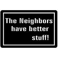 best bags Felpudo, Felpudo humorístico y Divertido, con Citas: los vecinos Tienen Mejor