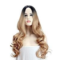 Big wavy lady's wig.
