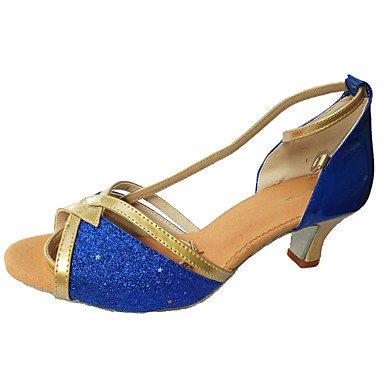 Silence @ Chaussures de danse pour femme Paillettes Paillettes latine/danse Sneakers talons Talon d'intérieur Silver