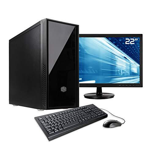 Sedatech Pack PC de Bureau Intel i7-8700 6X 3.6Ghz, 16Go RAM DDR4, 250Go SSD, 1To HDD, USB 3.1, WiFi, CardReader. Unité Centrale & Moniteur, Clavier/Souris & Win 10