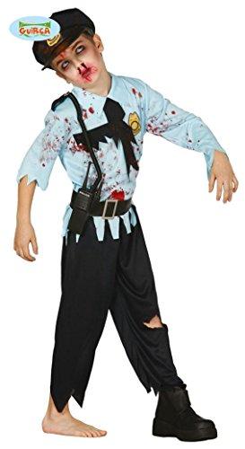 KINDERKOSTÜM - POLIZIST - Größe 142-148 cm ( 10-12 Jahre ), Zombie Untoter Monster Horror Police USA Cop
