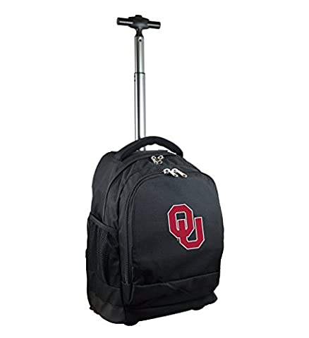 NCAA Oklahoma Sooners Expedition Wheeled Backpack, 19-inches, Black