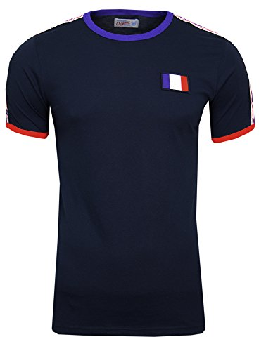 JACK & JONES WM 2018 WC Weltmeisterschaft Herren Retro Fan T-Shirt Trikot (S, Frankreich (Total Eclipse France)