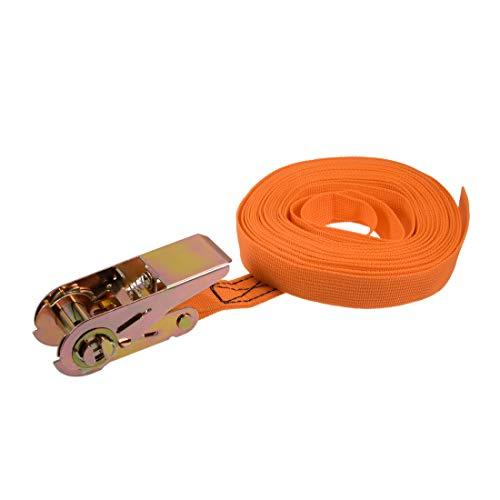 uxcell Spanngurt, 25 mm breit, bis 250 kg 7M Orange