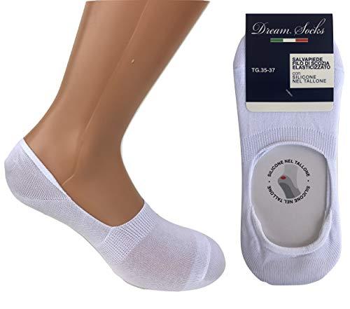DREAM SOCKS 6 paia calzini invisibili salvapiede con silicone sul tallone,calzini...