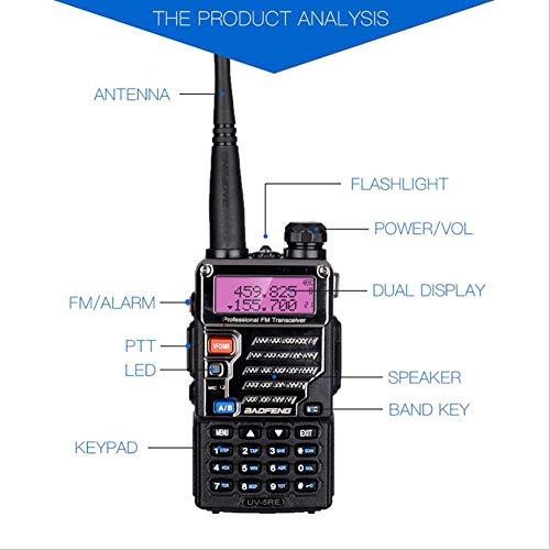 CAR SHUN Zweifrequenz-Funkgerät 136-174 MHz / 400-520 MHz Tragbares Funkgerät