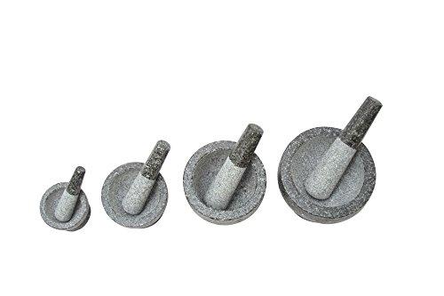 1PLUS Granit Mörser mit Stößel, in verschiedenen Größen (16 x 13 cm) - 4