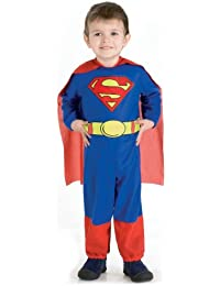 Rubie's Kid's Infant Superman Jumpsuit and Cape Costume, Infant, Age 6 - 12 months, Height 56 cm (neck to bottom)