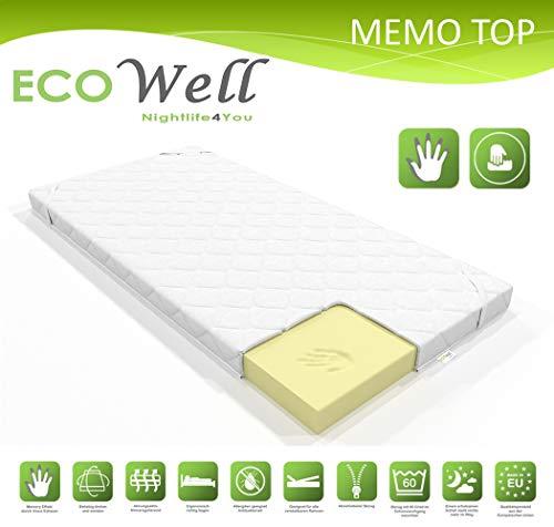 ECO WELL VISCO Memory Schaum Topper 7 cm waschbarer Bezug/orthopädische viskoelastische Matratzenauflage/Matratzenschoner für Boxspringbett/Matratzentopper 160 x 200 cm für unbequeme Betten
