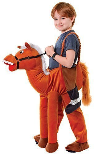 Jungen oder Mädchen Schritt Darauf reiten Schweinchen Rücken Animal Büchertag Halloween Kostüm Kleid Outfit - Pferd, One (Reiten Kostüm Für Kinder)