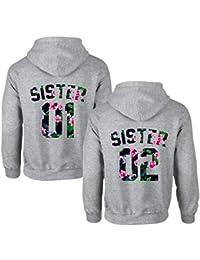eec3ca8e5365 Best Friends Hoodies für Zwei Mädchen Sister Freunde Pullover Set für 2  Damen Langarm Kapuzenpullover Pulli Freundin BFF Geschenke…