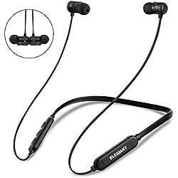 ELEGIANT Écouteurs Bluetooth, Oreillettes Bluetooth Sport Intra-auriculaire sans Fil IPX6 Etanche Magnétique Stéréo Basse, CVC 6.0 Réduction de Bruit pour Jogging Course