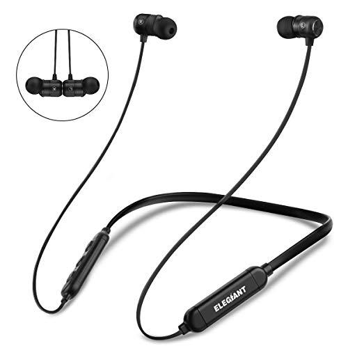 ELEGIANT Bluetooth Kopfhörer, In Ear Sport Kopfhörer Wireless Earphone drahtlos Kopfhörer IPX6 wasserdicht Stereo Bass Sport Ohrhörer 8 Stunden Spielzeit+Magnetverschluss +CVC 6.0 Geräuschreduzierung (Kopfhörer Wireless Audio)