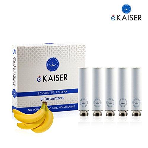 E-Shisha | E-Liquid 5er Pack Weiß Cartomizer | Banane-Geschmack | E-Zigarette | für eKaiser Wiederaufladbar E-Shisha Zigarette