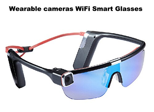 BW® New Smart Glasses Portable Camcorder HD Action Camera Full HD WiFi Control 1080P 16 Mmillion Sport Sunglasses Camera, 140 Degree Wide Angle All Glasses Lens