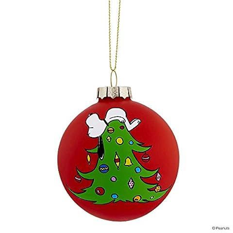 BUTLERS PEANUTS Glaskugel Snoopy/Baum- Christbaumkugel - 8 cm (Snoopy Charlie Brown Christmas)