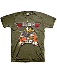 Offizielles Lizenzprodukt Top Gun - Flying Eagle T-Shirt (Olivegrün)