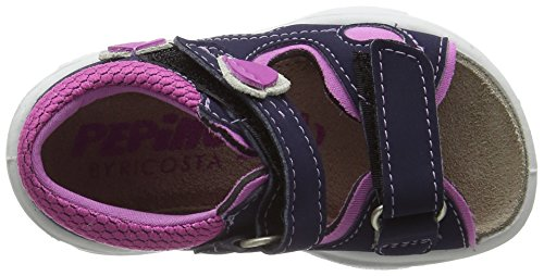 Ricosta Kittie, Sandales  Bout ouvert fille Blau (nautic/candy)
