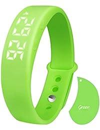 Green : Hunpta W5 Pedometer Sleep Monitor Temperature Bracelet Smart Watch