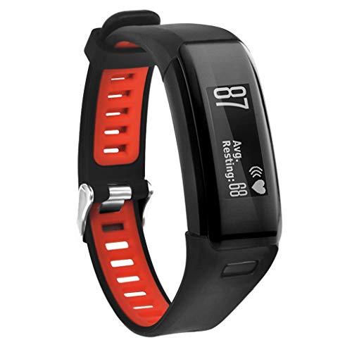 Preisvergleich Produktbild Feitb Mode zweifarbiges Silikonband,  Langlebig Gurt,  Sportarmband Armband Ersatzarmband für Männer,  Frauen, weiches bequemes Uhrenarmband,  für Garmin Vivosmart HR (rot)