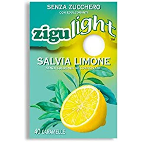 Zigulì Zigulight Salvia Limone Caramelle Senza Zucchero 40 Pezzi